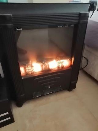 estufa eléctrica con efecto de leña