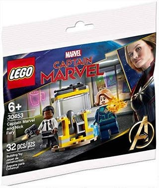 LEGO POLYBAG HEROES FIGURA NICK FURY & CAP. MARVEL