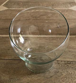 sucrier ou bonbonnière en forme de boule en verre