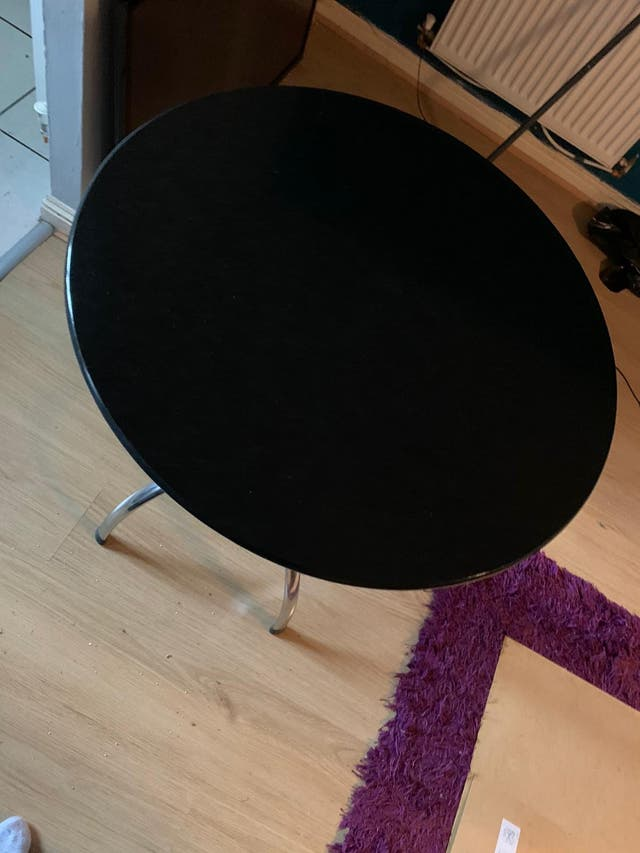 Small round marble table