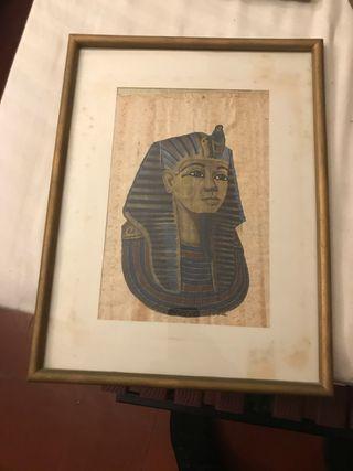 Pergaminos antiguos egipcios enmarcados