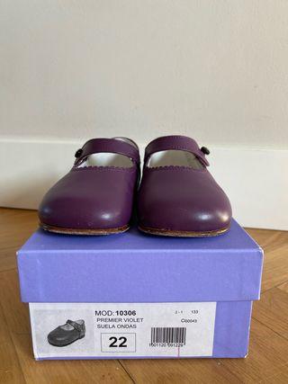 Zapatos niña morados