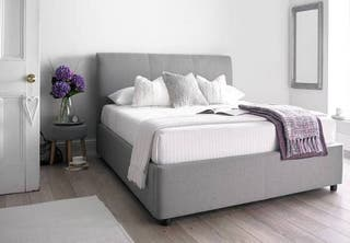 Upholstered Grey Otterman Double Bed