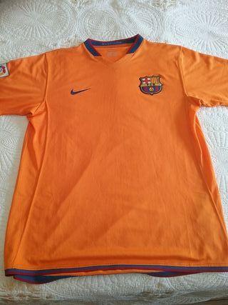 Camiseta Barça 2006. Segunda Equipación. Talla M