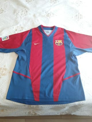 Camiseta Barça 2003. Primera Equipación. Talla M