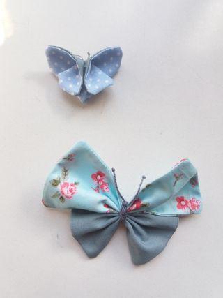 Mariposas artesanales de tela