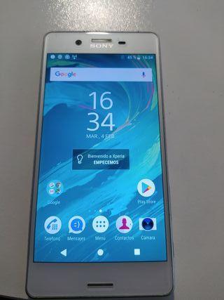 teléfono móvil Sony Xperia x blanco
