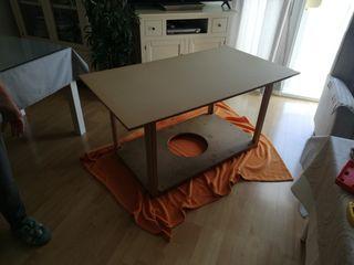 Mesa camilla rectangular 130 cm