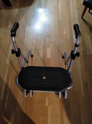 Andador metálico con asiento + regalo baston