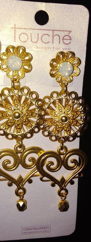 pendiente dorados
