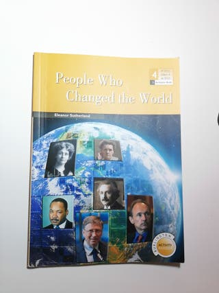 Libro inglés People who changed the world