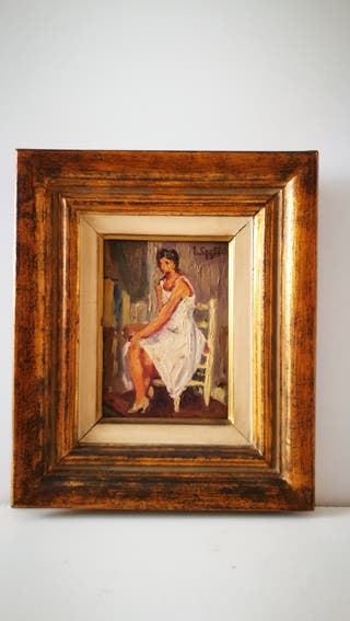 Cuadrio pintado al óleo de Juan Cardella Crusells