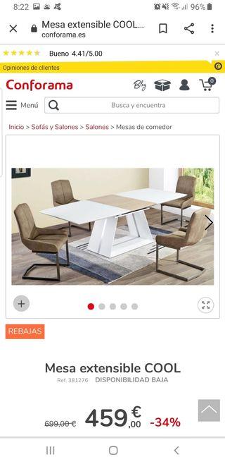 Mesa de salón-comedor