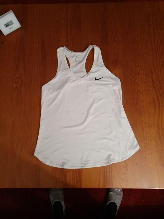 Camiseta padel/tenis/running Nike blanca Talla L