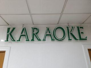 Luminoso neon verde cartel Karaoke