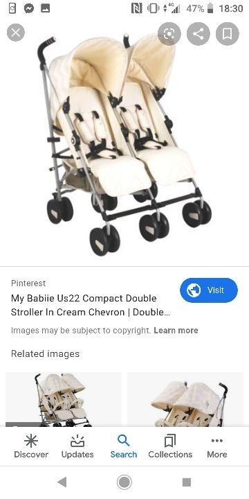 my babiie double pram cream