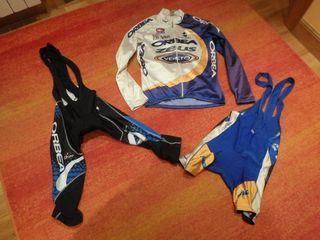 maillot bicicleta etxe-ondo y 2 culotte orbea L