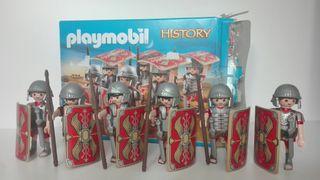 playmobil set 5393 seis soldados romanos con caja