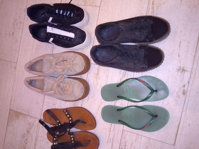 Lote Playeros, sandalias y chanclas.