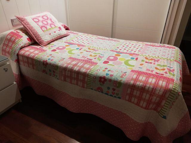 Colcha para cama de niña (90 cm)