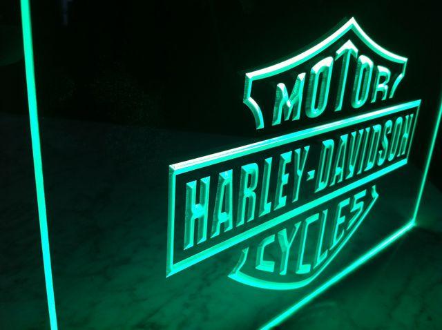 Cartel Luminoso Harley Davidson
