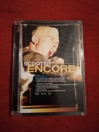 DVD SCOOTER ENCORE LIVE AND DIRECT THE WHOLE STORY