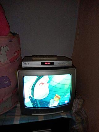 vendo televisión con tinte con mando