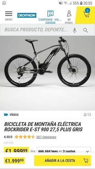 bicicleta eléctrica de rockrider E-ST 900