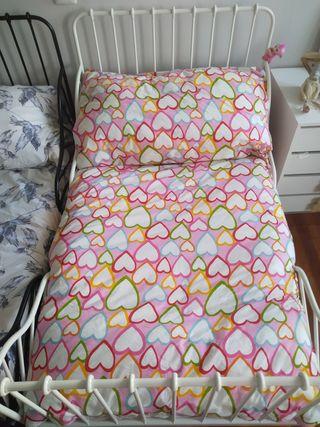 2 camas de Forja extensible infantil.