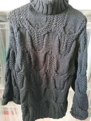 Jersey largo ancho lana