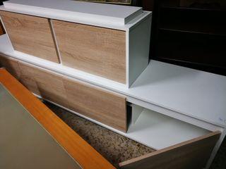 Mueble blanco de salón módulos