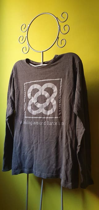 camiseta manga larga panot flor de Barcelona, colo