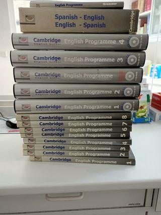 colección libros y CD de inglés