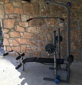 Banco de pesas sin usar