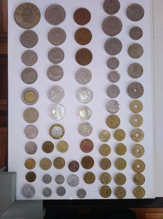 69 monedas y 11 billetes