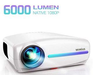 Proyector, 4k 6000 Lúmenes Proyector Full HD