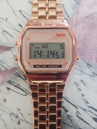 Reloj Oro Rosa tipo Casio