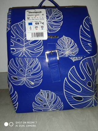 Mochila mujer azul Desigual