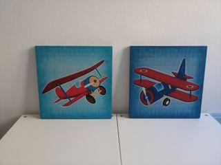 Cuadro lienzo aviones