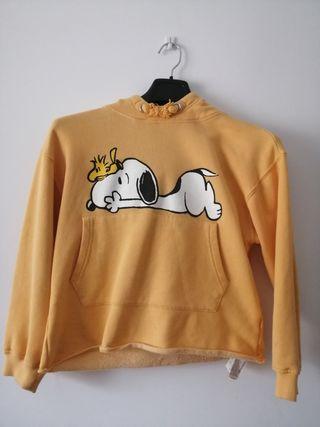 Sudadera Snoopy con capucha del Zara