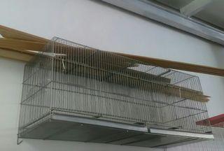 Jaula de 1'20 m de largo, para pájaros, 2 en 1.