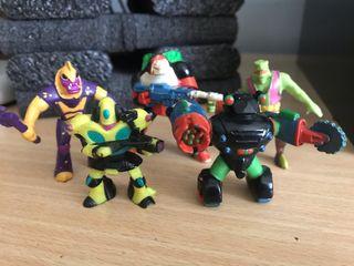 lote muñecos guerreros de la basura x5