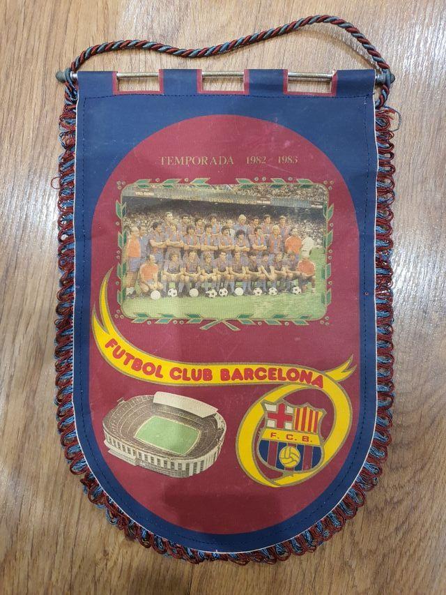 banderin fc barcelona original 1982 maradona