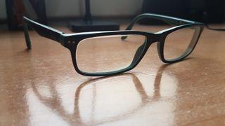 Armazón verde y negro mate gafas Ray-Ban