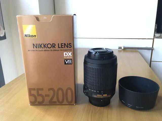 objetivo Nikon AF-S DX VR 55-200 mm