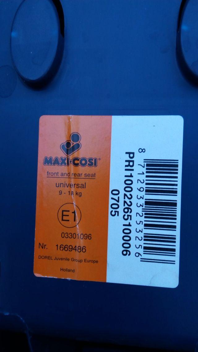 silla coche maxicosi grupo 1 (9-18 kg)