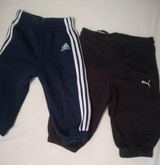 lote 3 pantalones chándal bebe