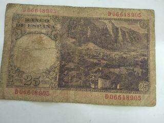 varios billetes de pesetas