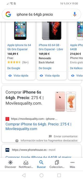 Iphone 6S precintado. Leer