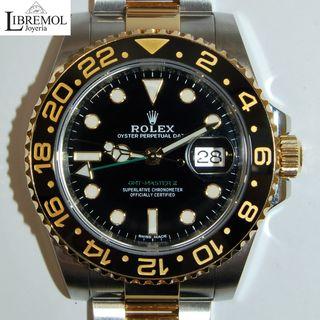 (6882) Rolex GMT Acero y Oro Nuevo 116713LN